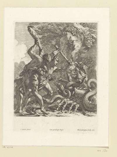 Gevecht tussen Hercules en de hydra van Lerna