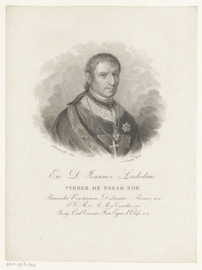 Portret van abt Ladislaus Pyrker