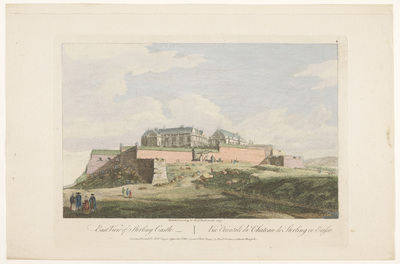 Gezicht op Stirling Castle; East view of Sterling Castle; Schotland
