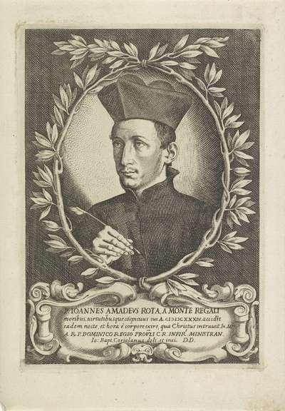 Portret van kardinaal Giovanni Amadeus Rota; P. Ioannes Amadeus Rota