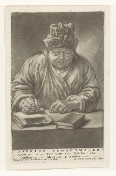 Portret van Andries Schoemaker; Andries Schoenmaker
