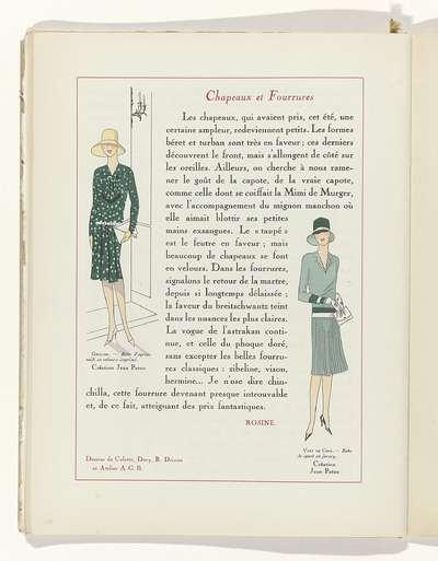Art - Goût - Beauté, Feuillets de l' élégance féminine, Novembre 1928, No. 99, 9e Année, p. 18