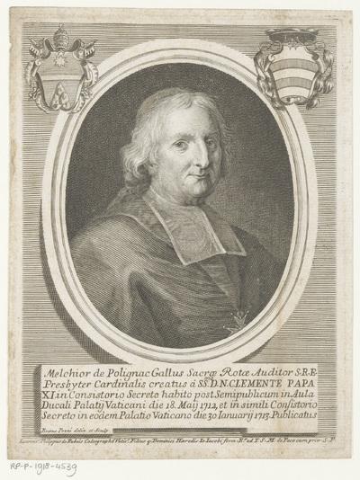 Portret van kardinaal Melchior de Polignac; Portretten van kardinalen