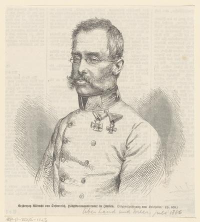 Portret van Albrecht, aartshertog van Oostenrijk en hertog van Teschen
