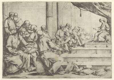 Christus tussen de schriftgeleerden in de tempel
