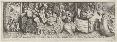 Zeeslag; De aankomst van de Etrusken in Latium (kopieën)