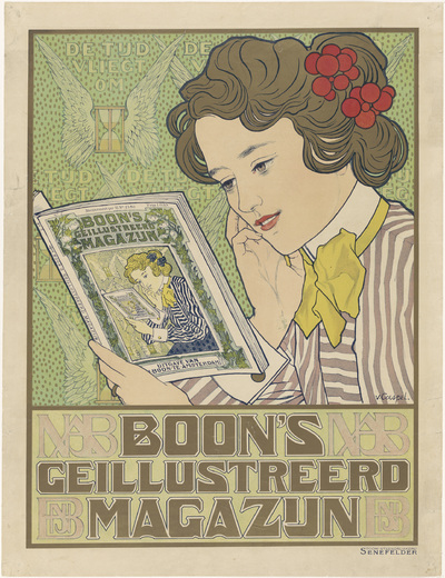 Image from object titled Affiche voor Boon's Geïllustreerd Magazijn