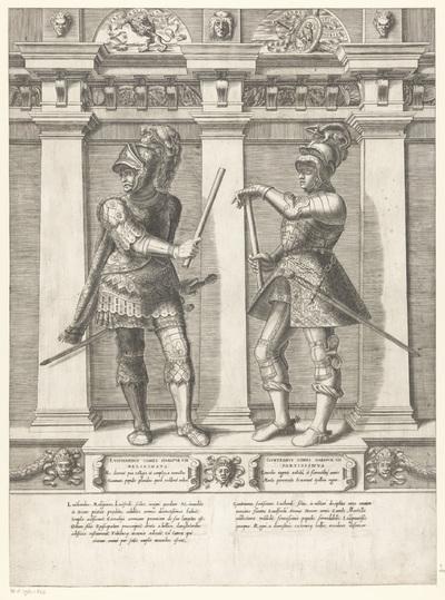 Dubbelportret van Luitardus en Guntramus van Habsburg; Portretten van leden van het Oostenrijkse Huis; Austriacae gentis imaginum