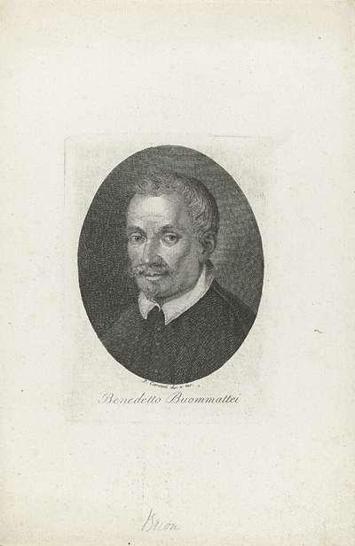 Portret van schrijver Benedetto Buommatei