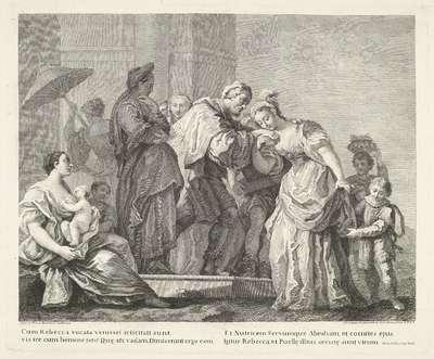 Het vertrek van Rebekka; Voorstellingen naar schilderijen van Amigoni