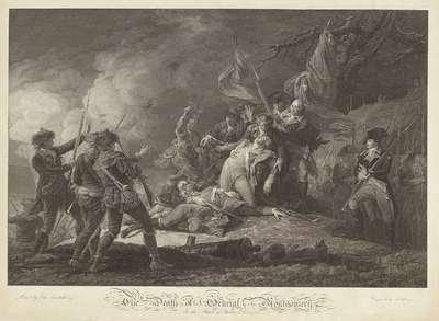De dood van Generaal Montgomery; Dood van generaal Montgomery, naar John Trumbull