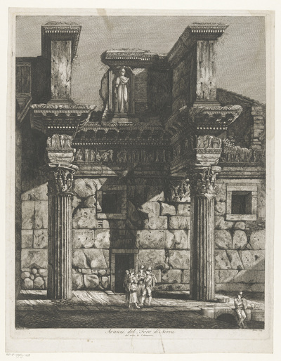 Forum van Nerva te Rome; Avanzi del Foro di Nerva