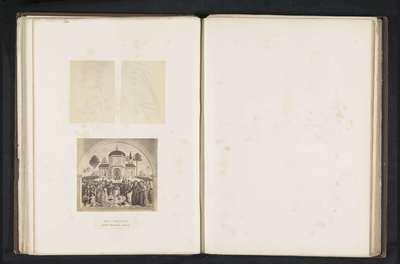 Drie fotoreproducties van een publicatie door de Arundel Society met afbeeldingen door Pinturicchio