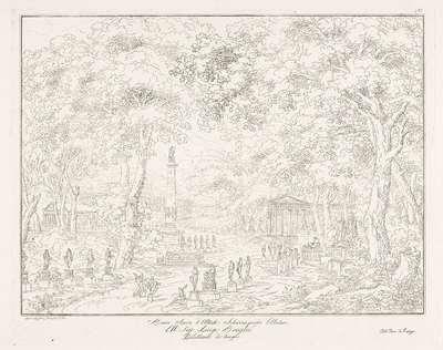 Park met standbeelden, tempels en monumenten; Bosco sacro d'Alltide (...)