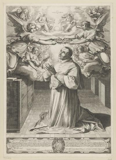 Heilige Carlo Borromeo in gebed