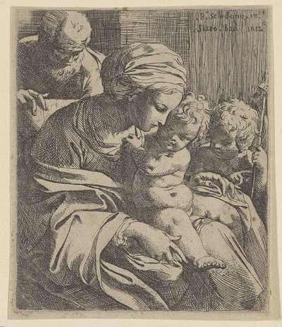 Image from object titled Heilige Familie met Johannes de Doper