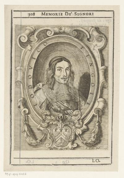 Portret van dichter Ludovico Tingoli