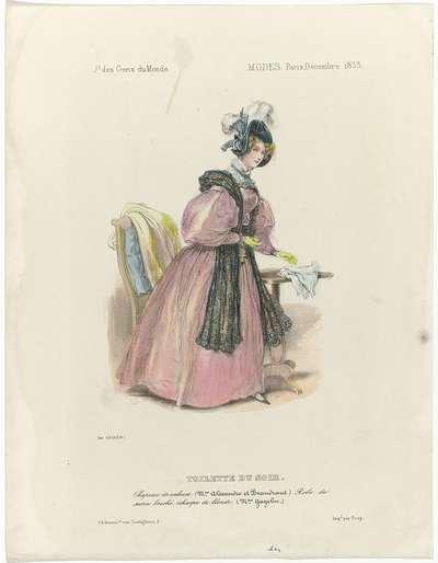Journal des Gens du Monde, Modes Paris. décembre 1833 : Toilette du soir (...)