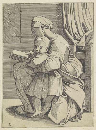 Maria leert het Christuskind lezen
