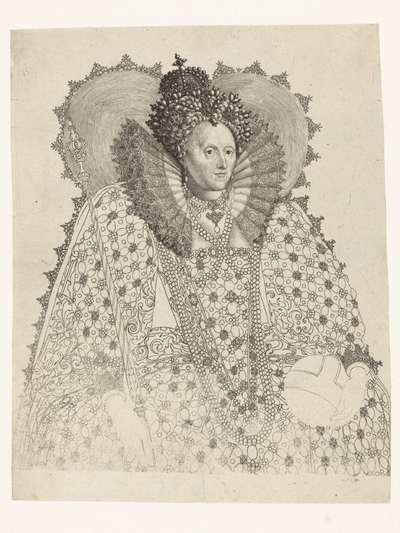 Portret van Elizabeth I Tudor, koningin van Engeland