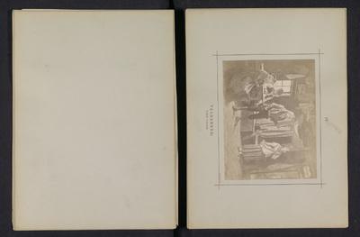 Fotoreproductie van een schilderij door Karl Emanuel Jansson, voorstellende een huwelijksaanzoek; Talmannen; åländsk frieriscen