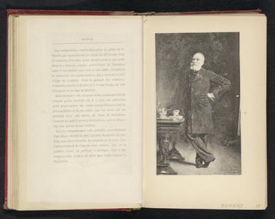 Fotoreproductie van een schilderij, voorstellende een portret van Pierre Puvis de Chavannes