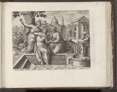 Susanna en de ouderlingen; Geschiedenis van Susanna; Historia Susannae (...); Thesaurus sacrarum historiaru[m] veteris testame[n]ti, elega[n]tissimis imaginibus expressu[m] excelle[n]tissimoru[m] in hac arte viroru[m]...