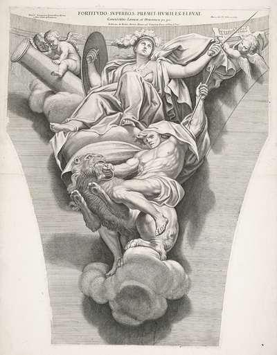 Fortitudo; Fortitudo superbos premit humiles elevat; Kardinale deugden