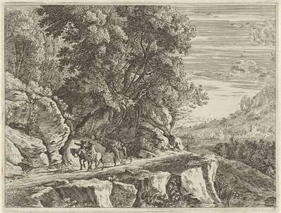 Landschap met twee ruiters; Verscheyde aerdige lantschappen (...)