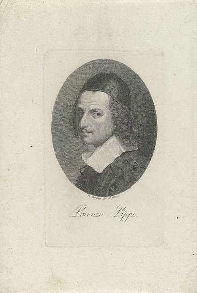 Portret van schilder en dichter Lorenzo Lippi