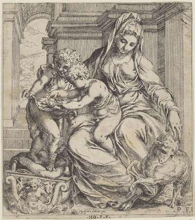 Maria met Kind en de jonge Johannes de Doper