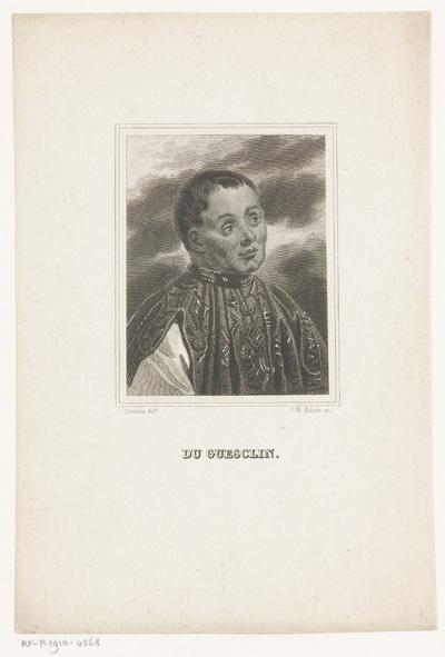Portret van Bertrand du Guesclin