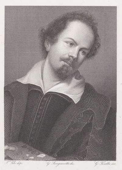 Portret van schilder Tiberio di Tito