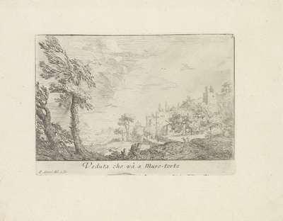 Landschap met de Muro Torto in Rome; Veduta che và a muro-torto; Varie Vedute