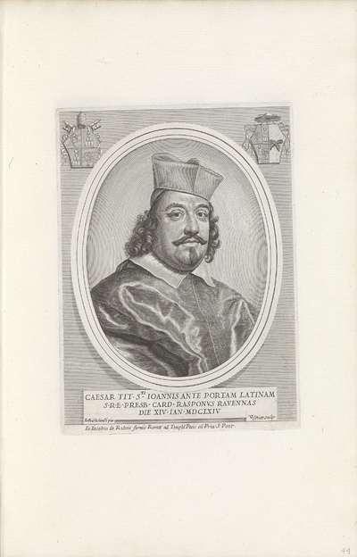 Portret van kardinaal Cesare Rasponi; Effigies Nomina et Cognomina S.D.N. Alexandri Papae VII et RR. DD. SRE. Cardd (...).