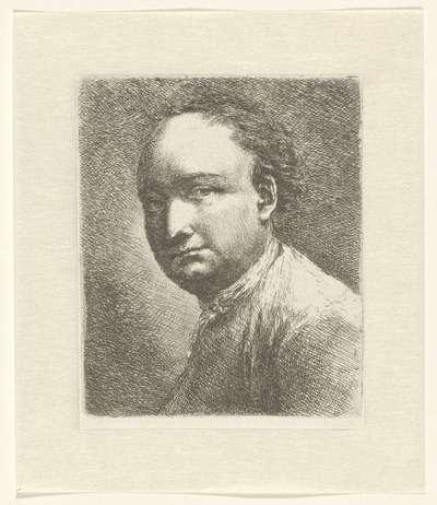 Portret van de schilder Johann Harper