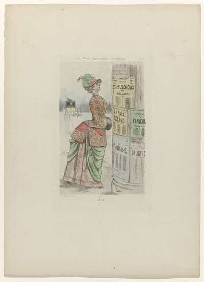 Les Modes Feminines du XIXe Siècle, 1875, Pl. 75