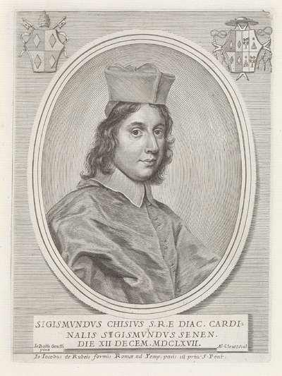 Portret van kardinaal Sigismondo Chigi; Effigies Nomina et Cognomina S.D.N. Alexandri Papae VII et RR. DD. SRE. Cardd (...).