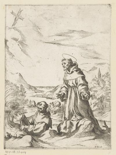 Heilige Franciscus ontvangt de stigmata