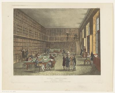 Bibliotheek van de Royal Institution te Londen; Royal Institution, Albemarle Street