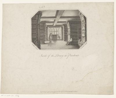 Bibliotheek van Peterhouse te Cambridge; Inside of the Library at Peterhouse