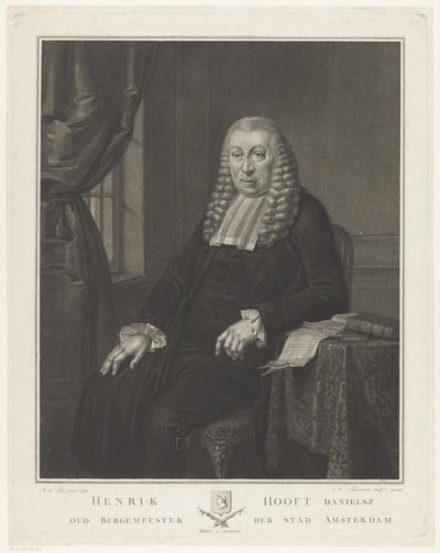 Portret van Hendrik Hooft Danielsz., burgemeester van Amsterdam