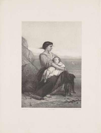 Moeder met kind bij de zee; De verwachting