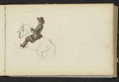 Ruiter op een steigerend paard