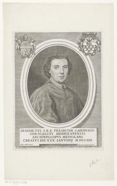 Portret van kardinaal Benedetto Erba-Odescalchi