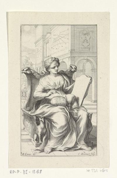 Vrouw zittend op een troon