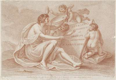 Titelprent met personificatie van de schilderkunst; Ciprianis beginselen van het tekenen; Ciprianis rudiments of drawing