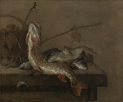 Image from object titled Still life with fish
