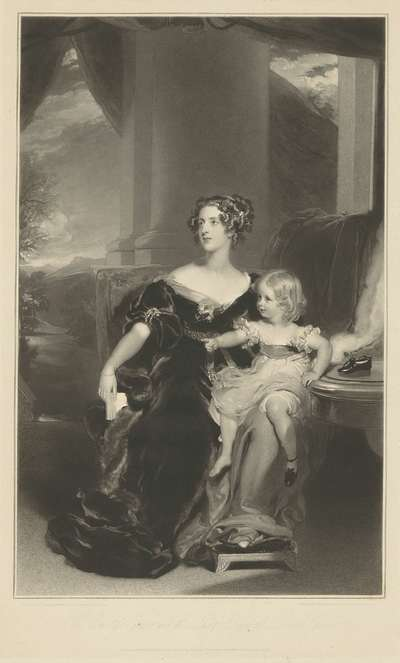 Portrait of Harriet, Countess Gower, and her Daughter