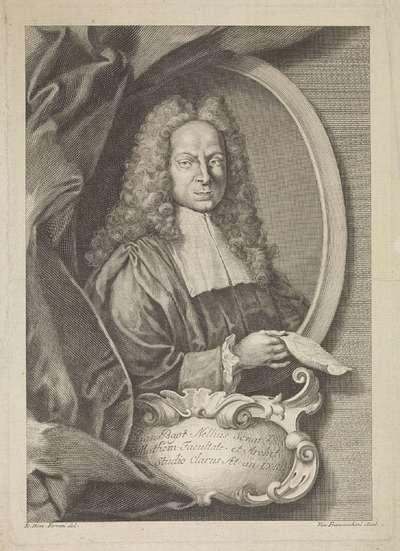 Portret van architect Giovanni Battista Nelli